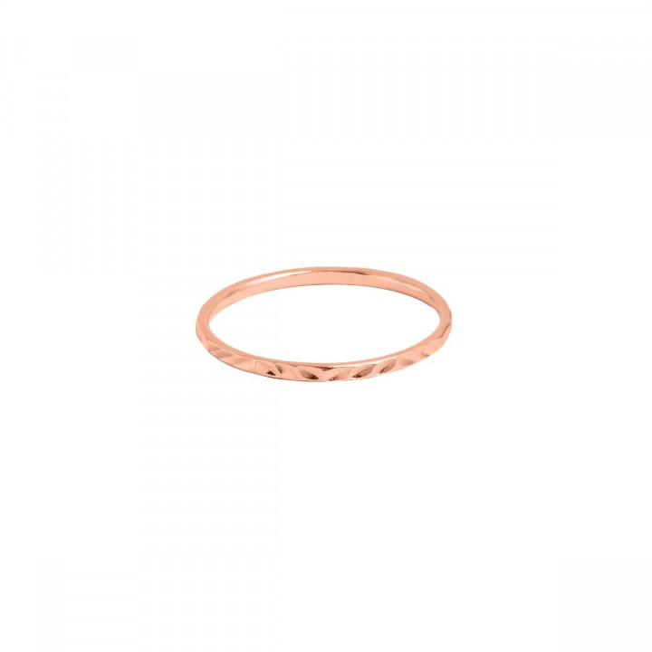 Tie bangle bracelet with perforated initial letter