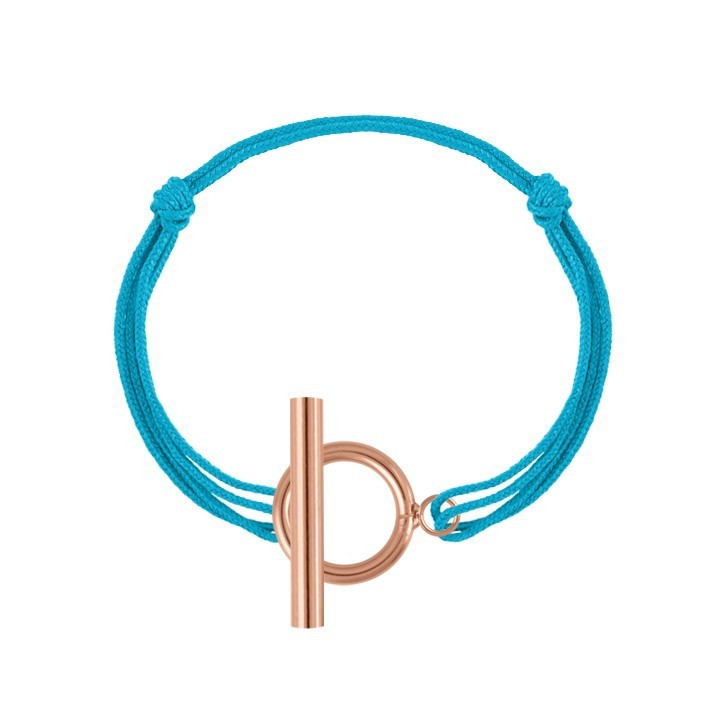 Tie bracelet with customizable medal for children