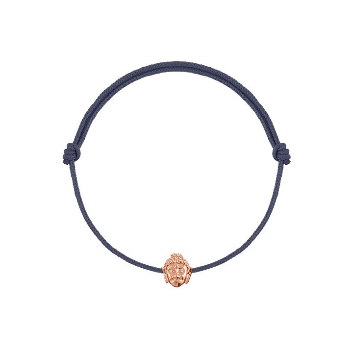 Tie bracelet with heart medal