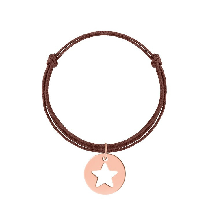 Tie bracelet with convex cross charm