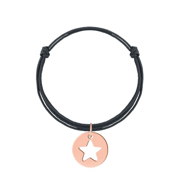 Tie bracelet with mini star