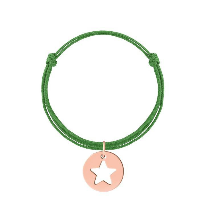 Tie bracelet with perforated initial letter for children
