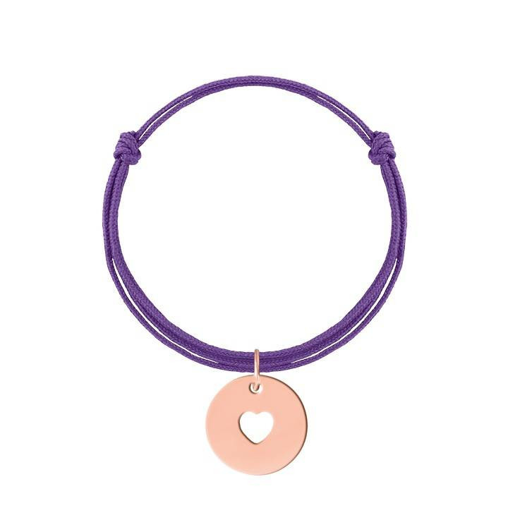 Tie bracelet with small silver handcuffs for children