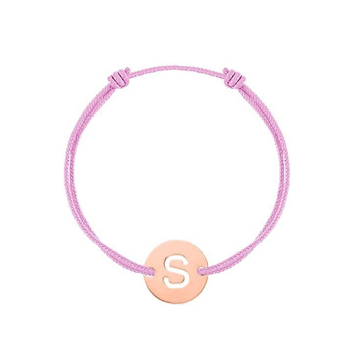 Tie bracelet with miniature heart for children