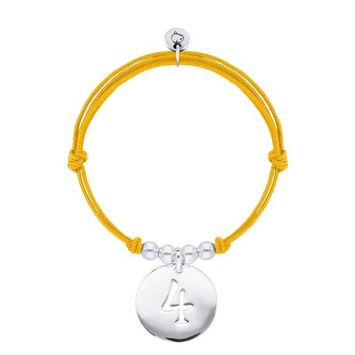 Half bangle and chain bracelet with astrological sign