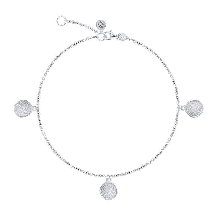 925 Silver tie bangle bracelet with medal