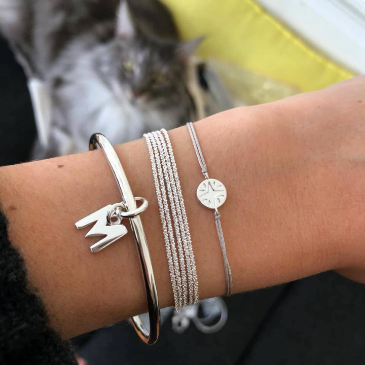 Liberty bracelet with rose gold-plated medal