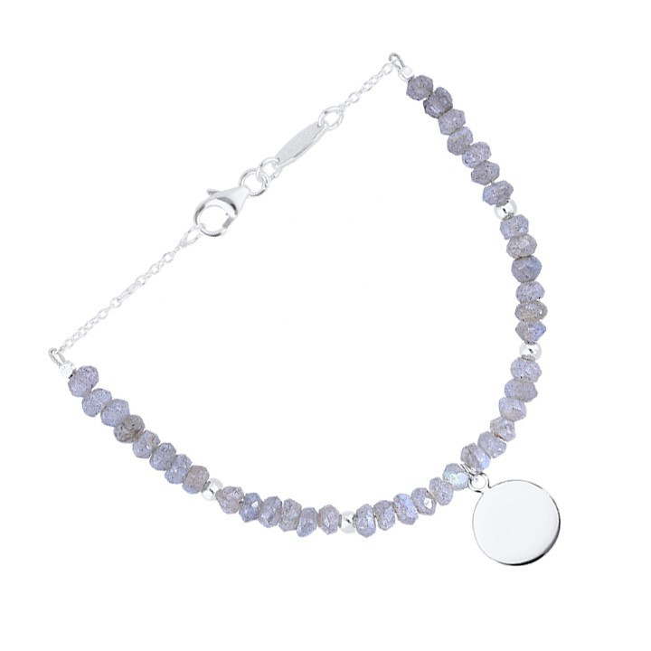 Double layer black tie and 925 silver chain bracelet