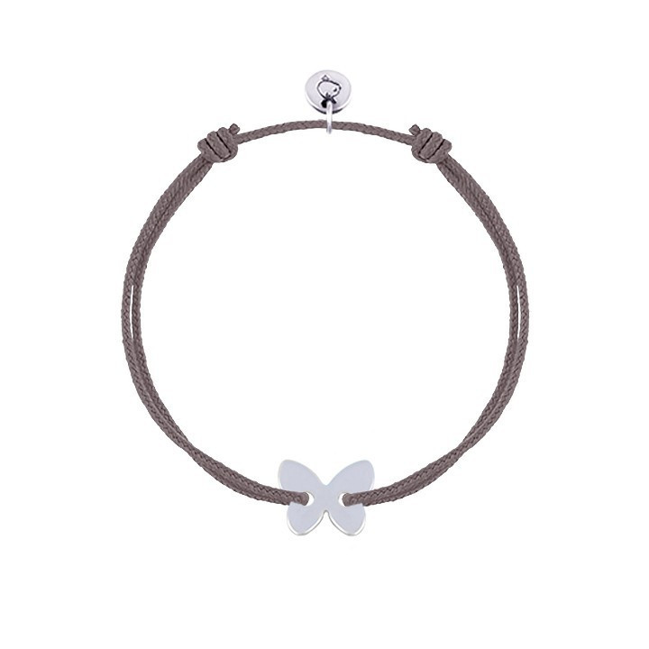 Rose gold-plated Half bangle and chain bracelet with tree of life & pompom