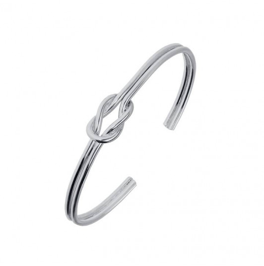 Bangle bracelet with bow