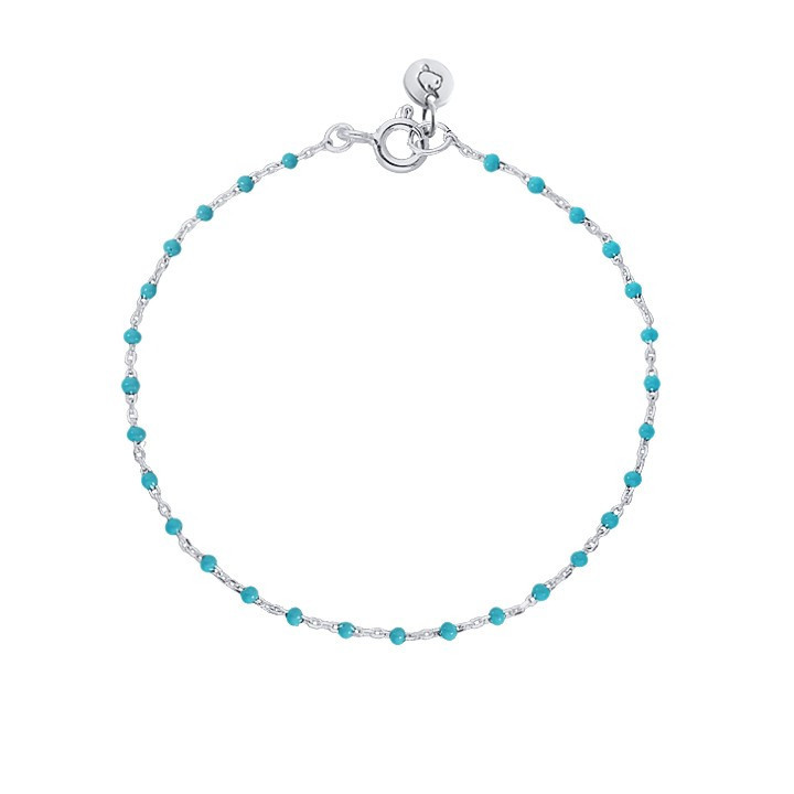 Chain bracelet with turquoises beads