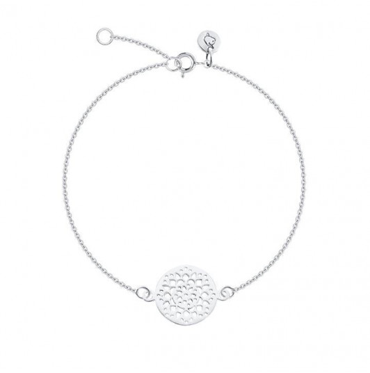 Chain bracelet with flower arabesque
