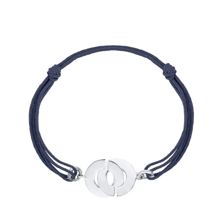 925 Silver tie bracelet with handcuffs for men