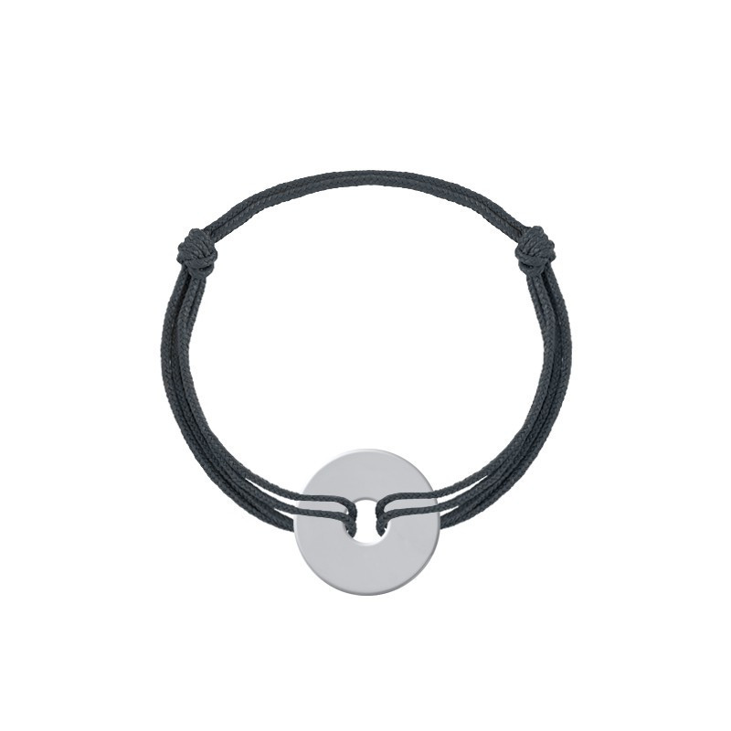 Tie bracelet with target medal for men