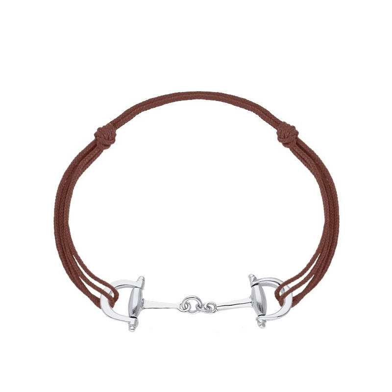 925 Silver equestrian tie bracelet for men