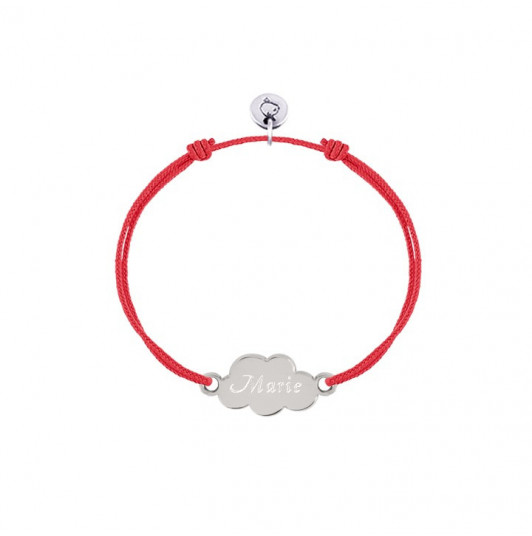 Tie bracelet with small cloud