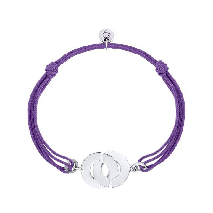925 silver tie bracelet with handcuffs