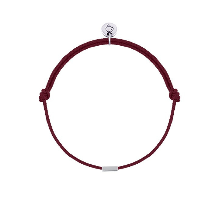 Tie bracelet with small rectangle