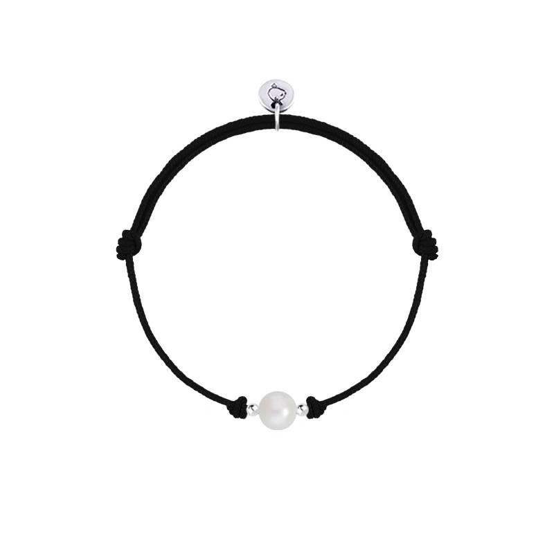 925 Silver Tie bracelet with freshwater bead
