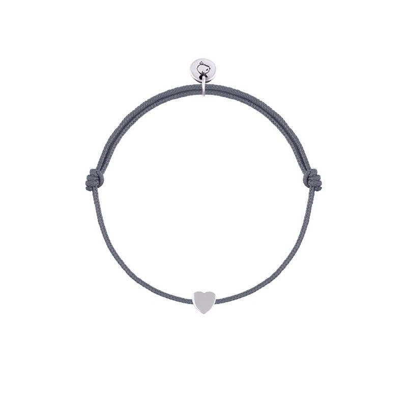 925 Silver tie bracelet with mini heart