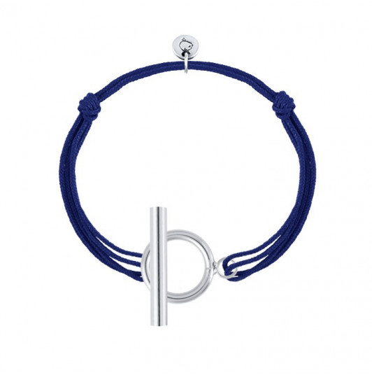 Tie bracelet with T toggle