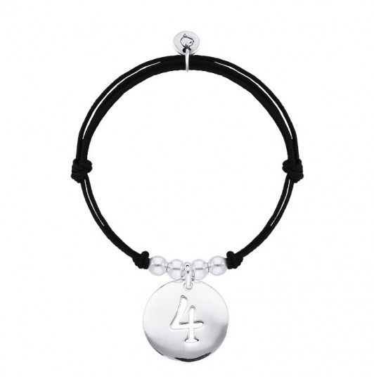 Tie bracelet with large charm number