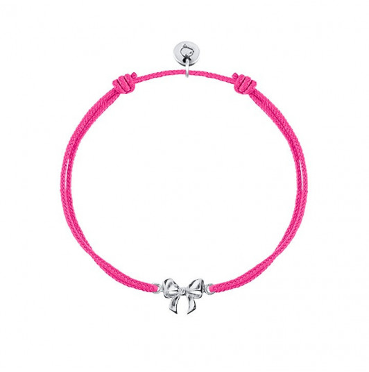 Tie bracelet with bow for children