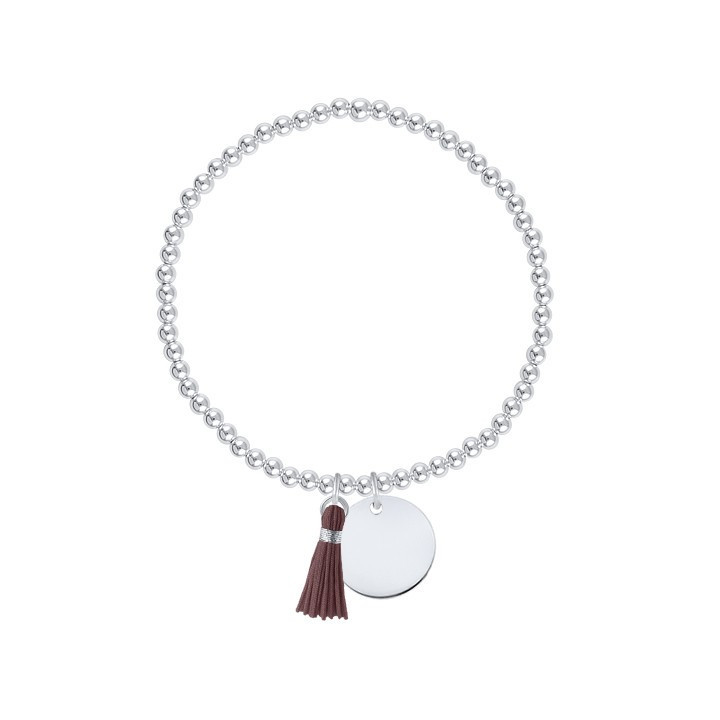 3 mm beads and customizable medal bracelet