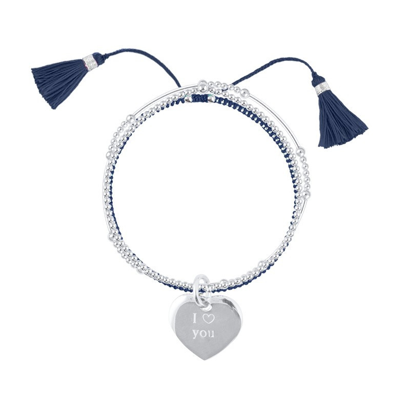 Triple beads bracelets and perforated star medal