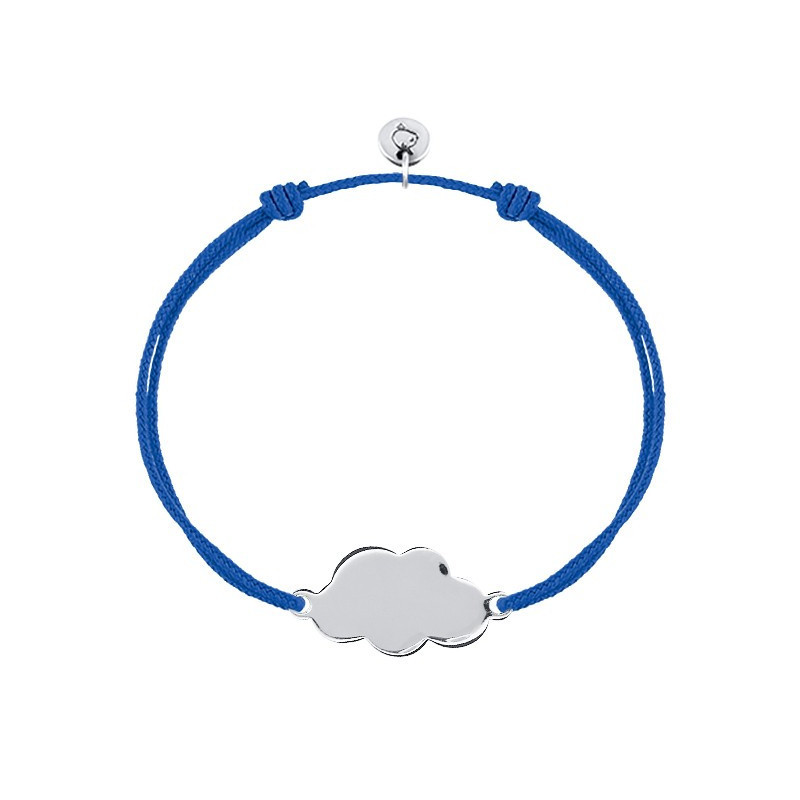 Bracelet cordon grand nuage