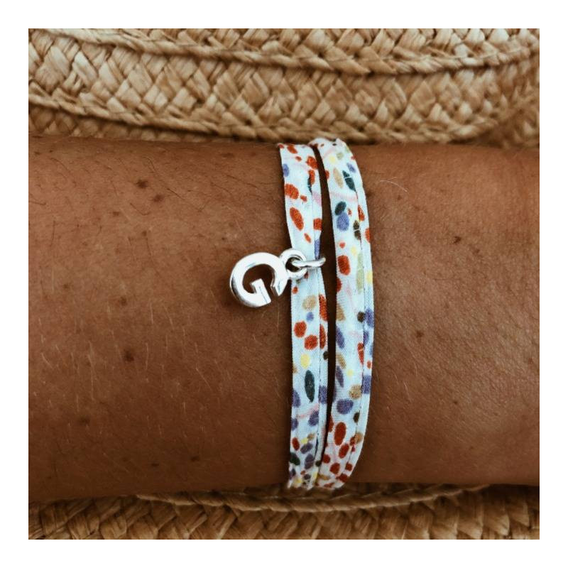 Liberty bracelet with a 925 silver letter charm