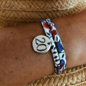 Liberty bracelet with 925 silver engraved number medal