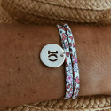Liberty bracelet with 925 silver perforated number medal