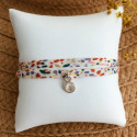 Liberty bracelet with a 925 silver letter charm for children