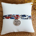 Liberty bracelet with 925 silver engraved number medal for children