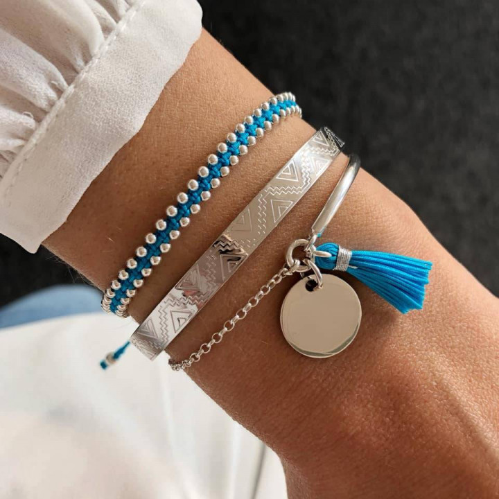 925 Silver turquoise blue trio