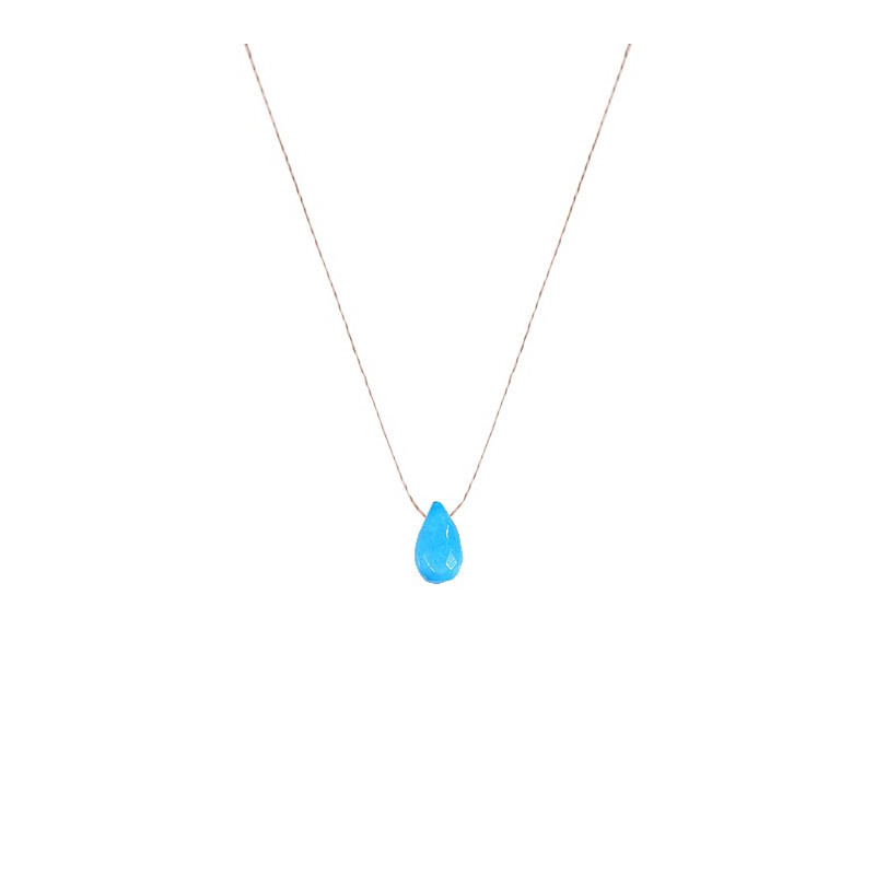 Collier goutte turquoise