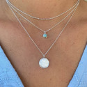 925 Silver beads and amazonite necklace duo