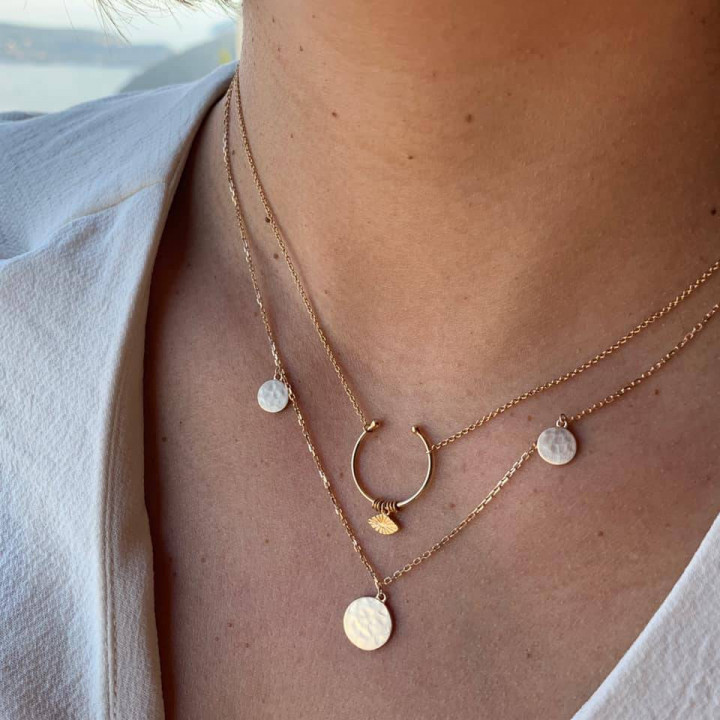 Gold-plated Arielle necklace set