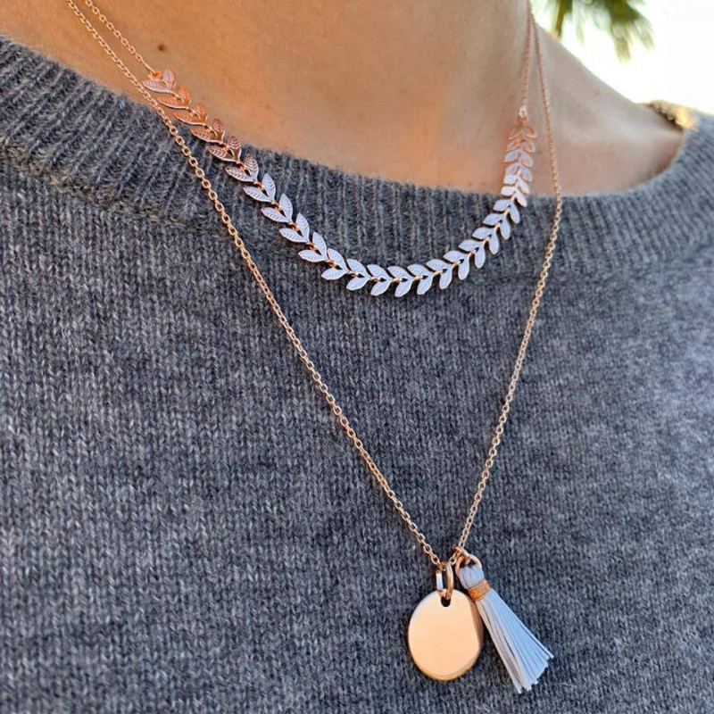 Morning light necklace duo