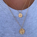 Gold-plated wind rose necklace duo
