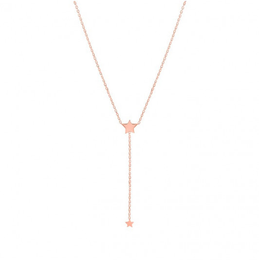 Star chain necklace with star pending chain