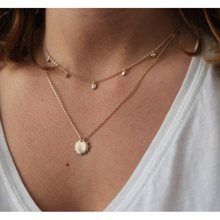 Gold-plated Elis chain necklace