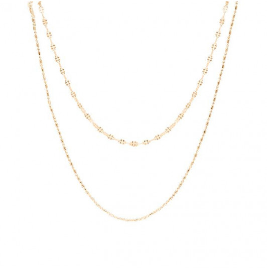 Two-row fancy chains necklace