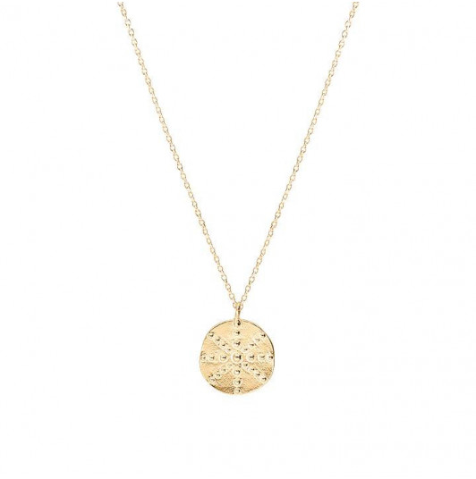 Small Astraia medal chain necklace