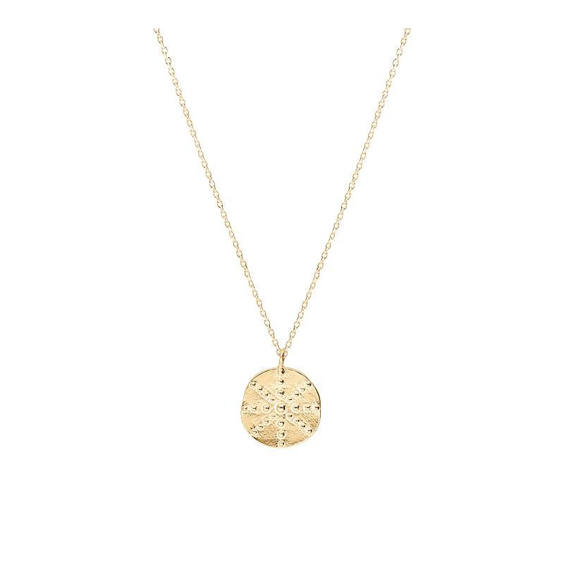 Gold-plated small Astraia medal chain necklace