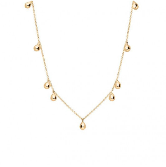 9 drops chain necklace