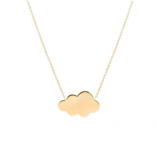Chain necklace with gold-plated cloud
