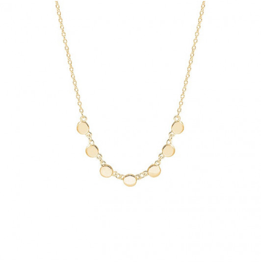 7 small medals chain necklace