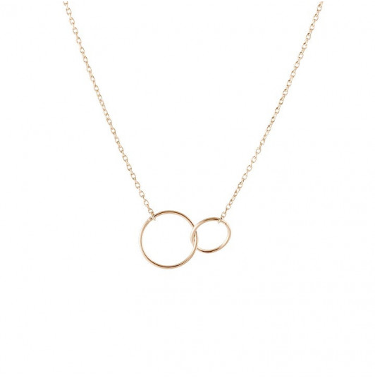 Chain necklace with double ring